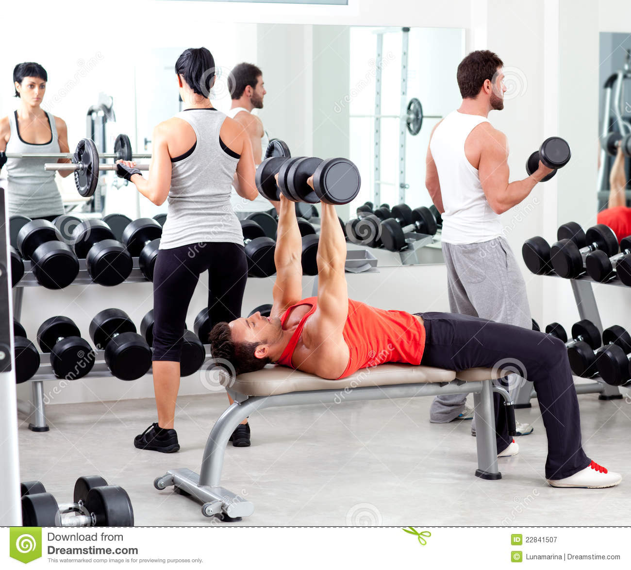 Group of people in sport fitness gym royalty free stock for Gimnasio sport gym