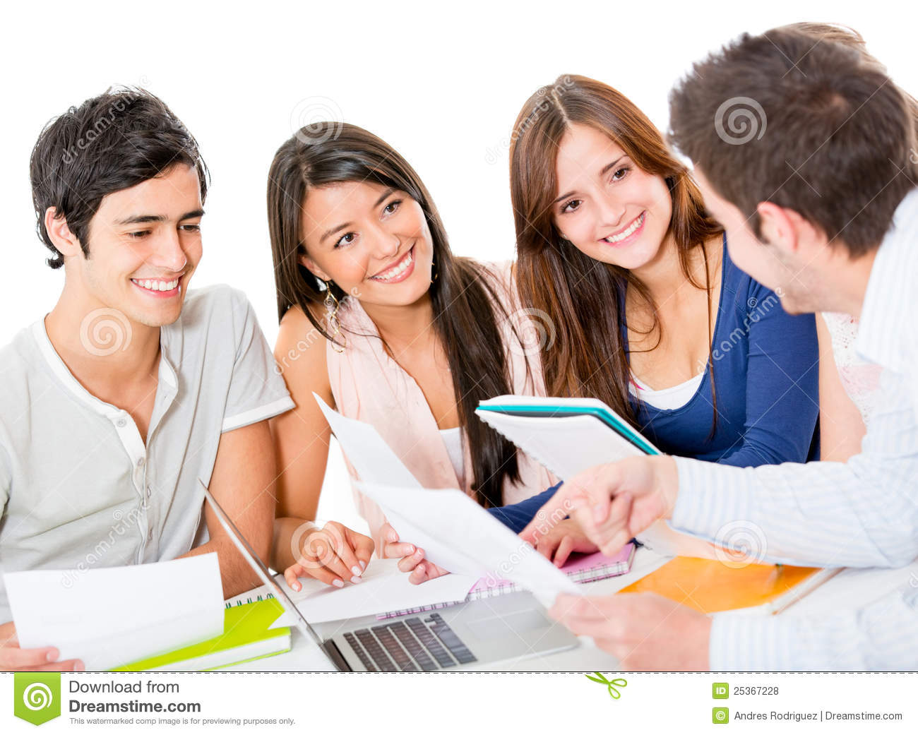 Group Of People Studying Royalty Free Stock Photos - Image: 25367228