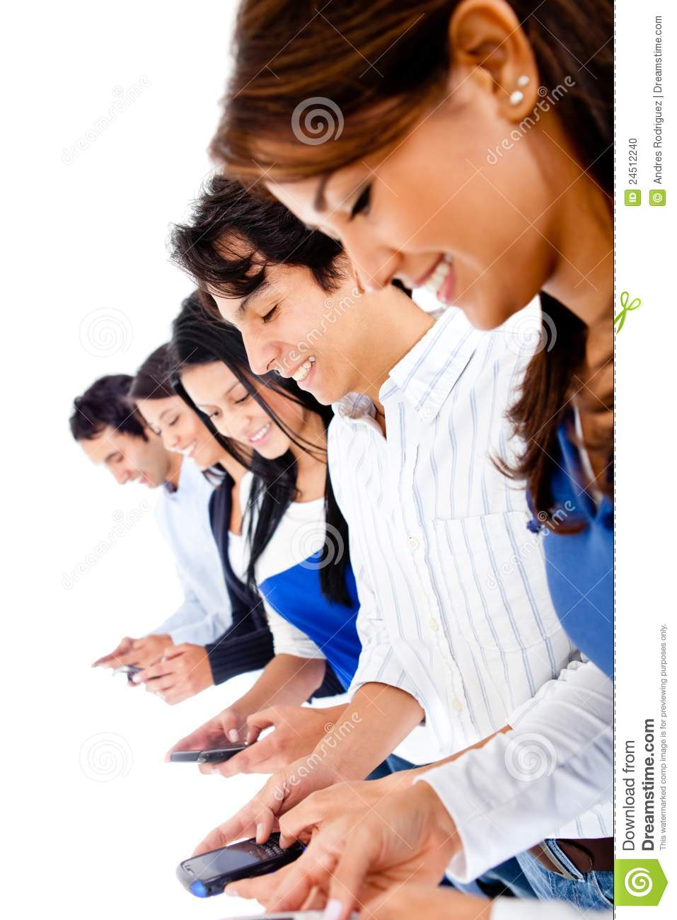 Group Of People Texting Stock Photo Image Of Lifestyle