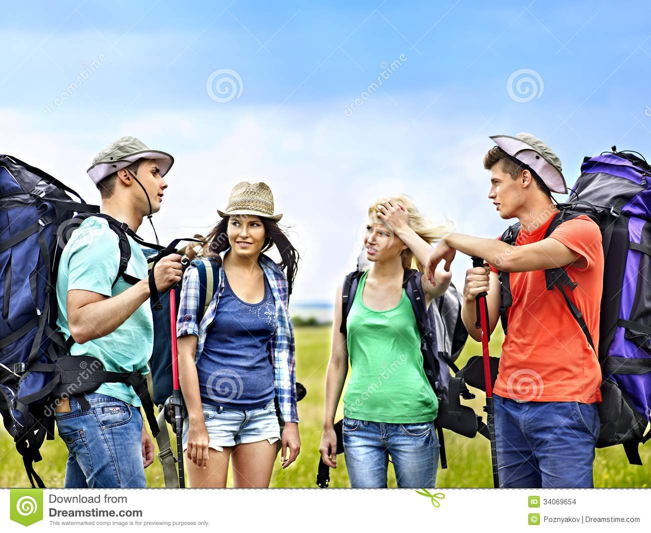 Group People On Travel. Stock Images - Image: 34069654