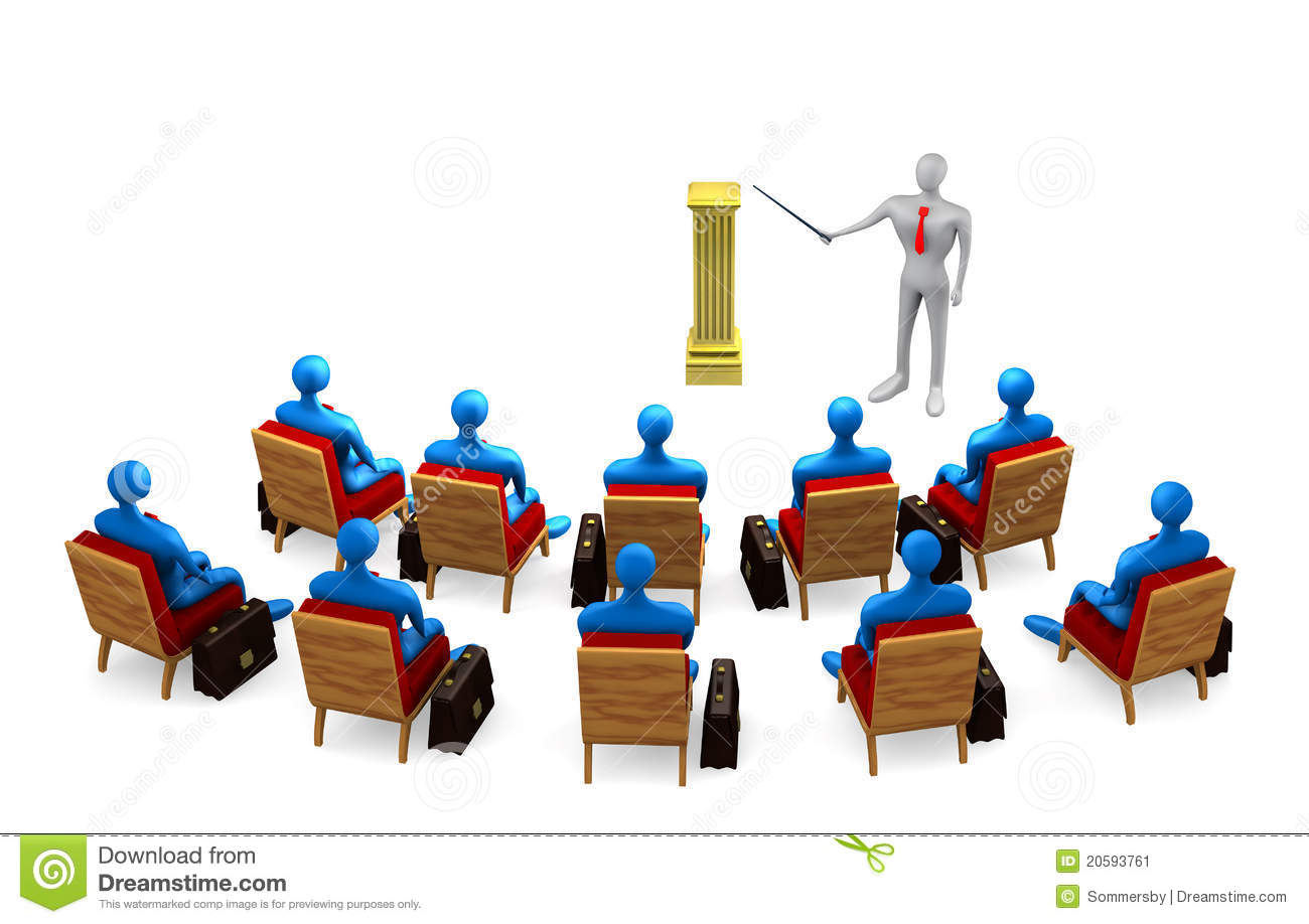 Group Of Persons And Teacher Stock Illustration - Image ...