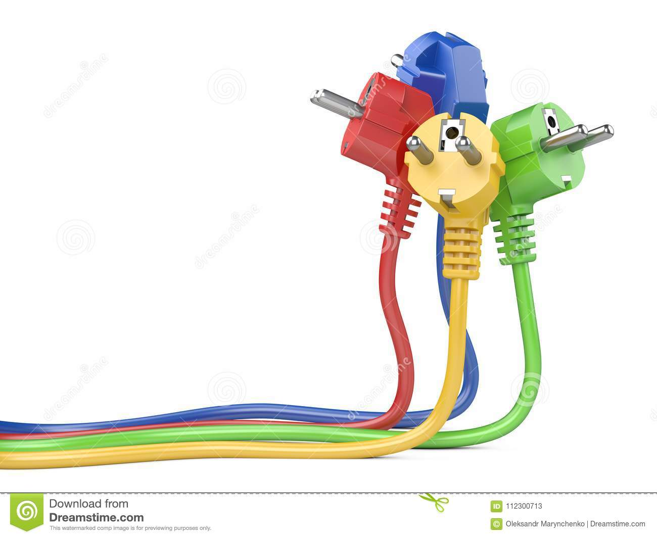 Group Plugs Colour Group Electric Plug With Long Wires ... on