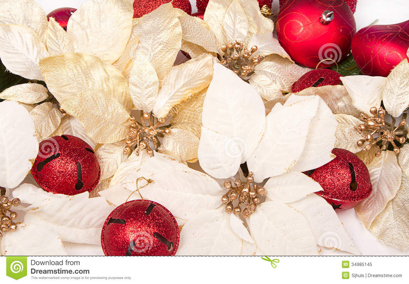 group of poinsettias - Poinsettia Christmas Decorations