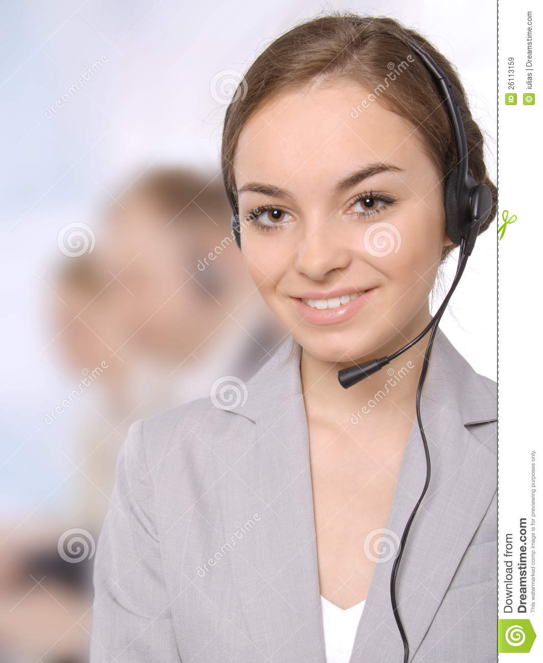 Group Portrait Of Happy Customer Service People Royalty Free Stock Images