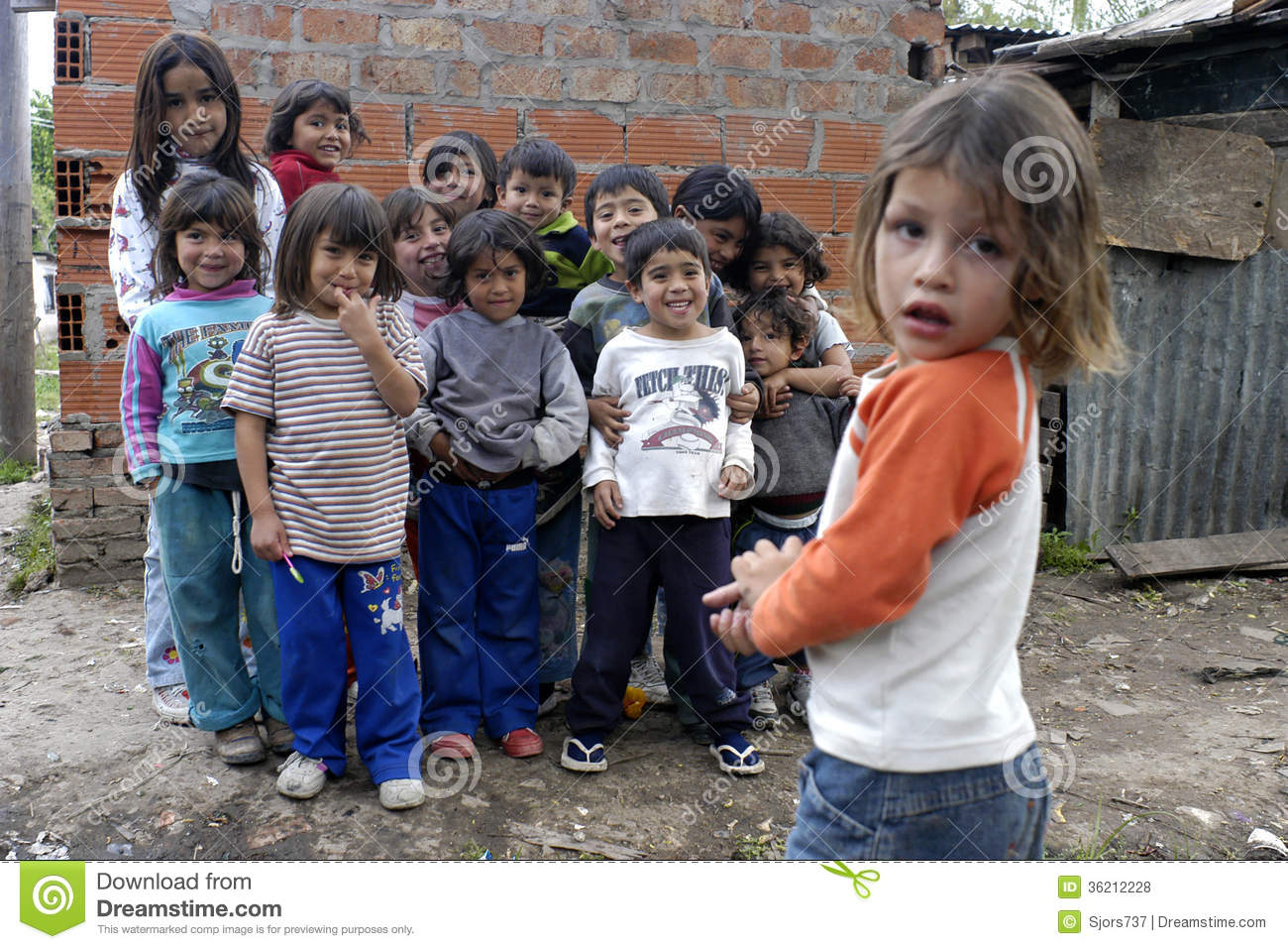 Group Portrait Of Playing Children, Argentina Editorial Stock Photo ...