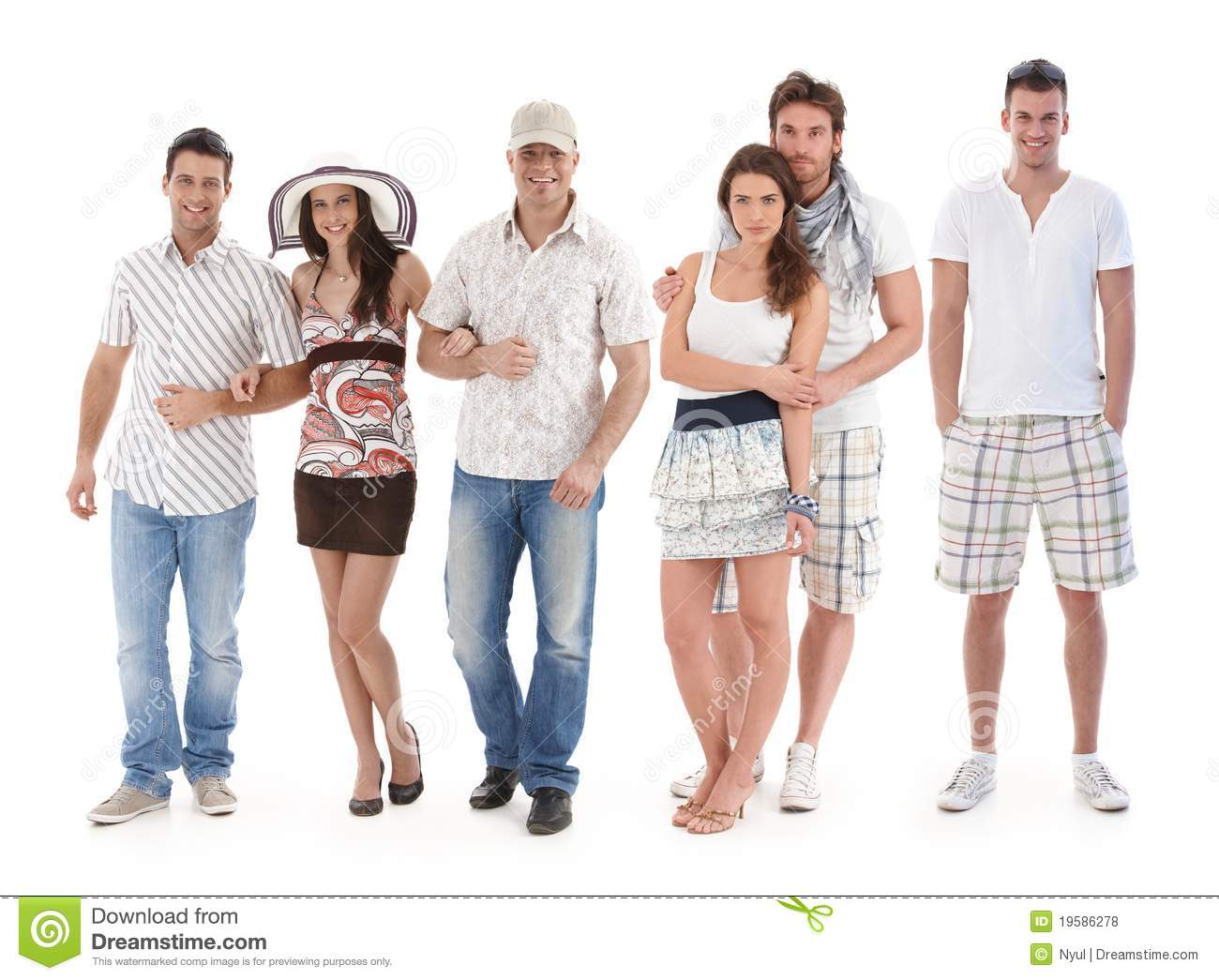 Group Portrait Of Young People In Summer Clothing Stock Photo Image Of Fashion Fellowship