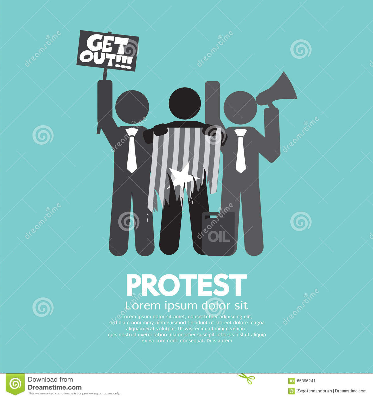 Group Of Protester Graphic Symbol.