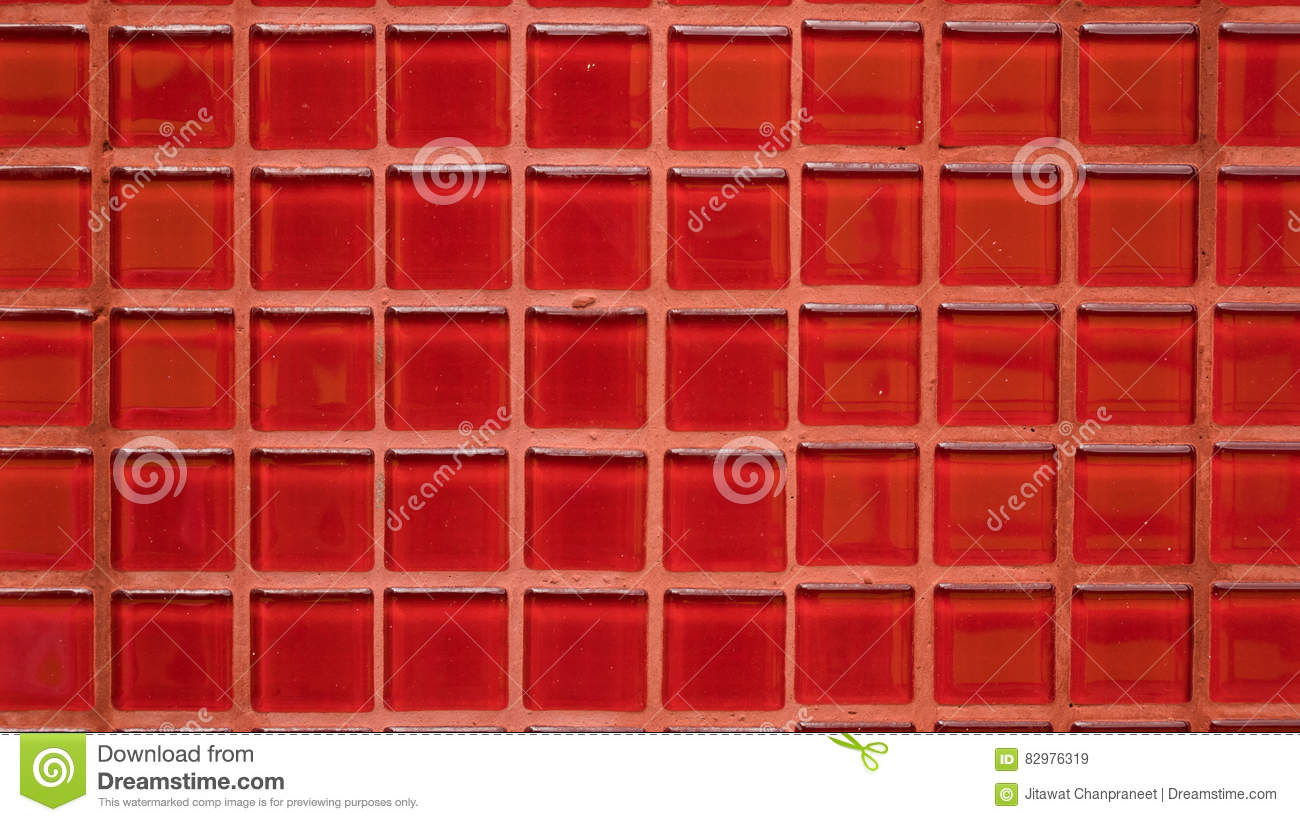 Group of red tiles texture background