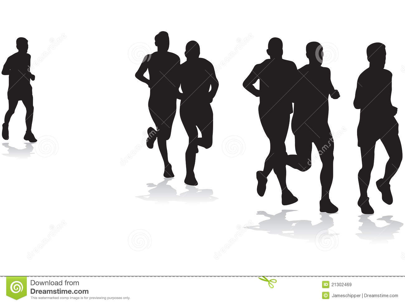 Group Of Runners Royalty Free Stock Images - Image: 21302469