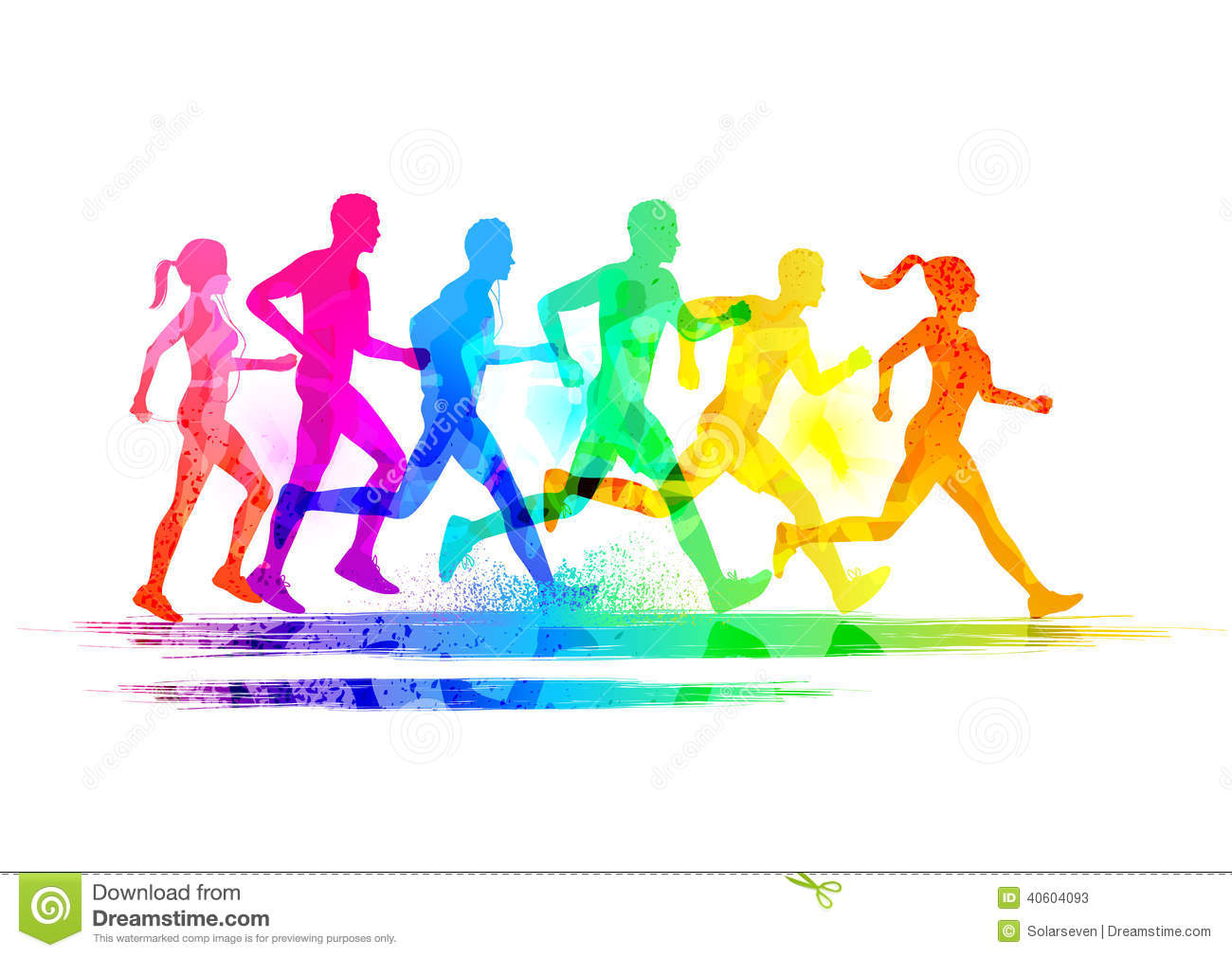 Group Of Runners stock vector. Illustration of legs ...