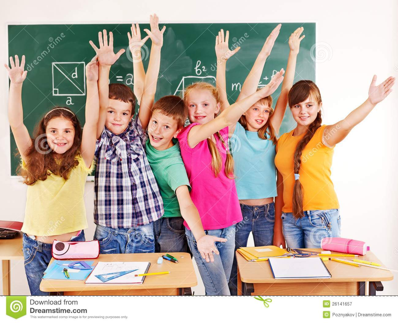 Group Of School Child In Classroom Royalty Free Stock