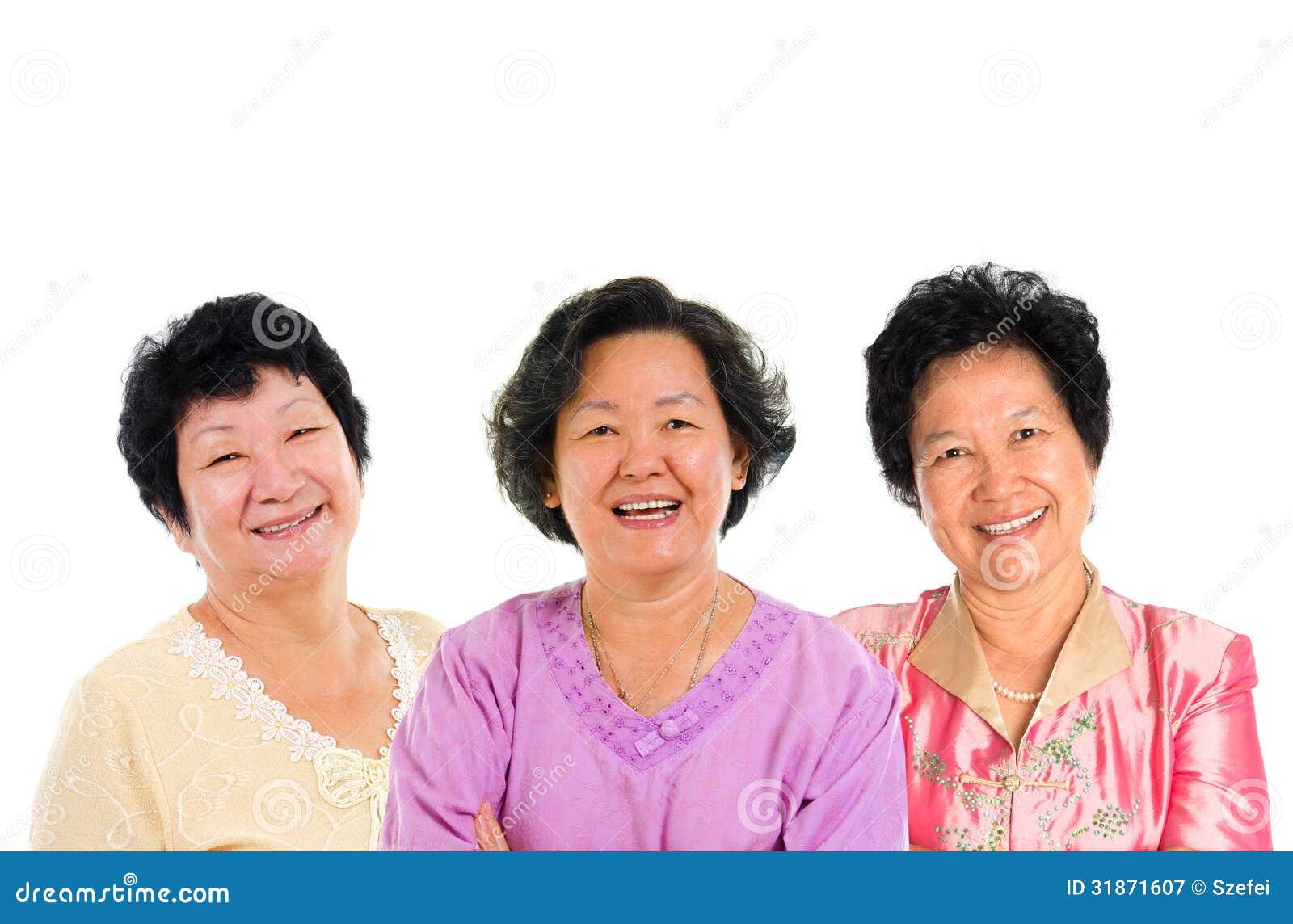 Mature older asian women