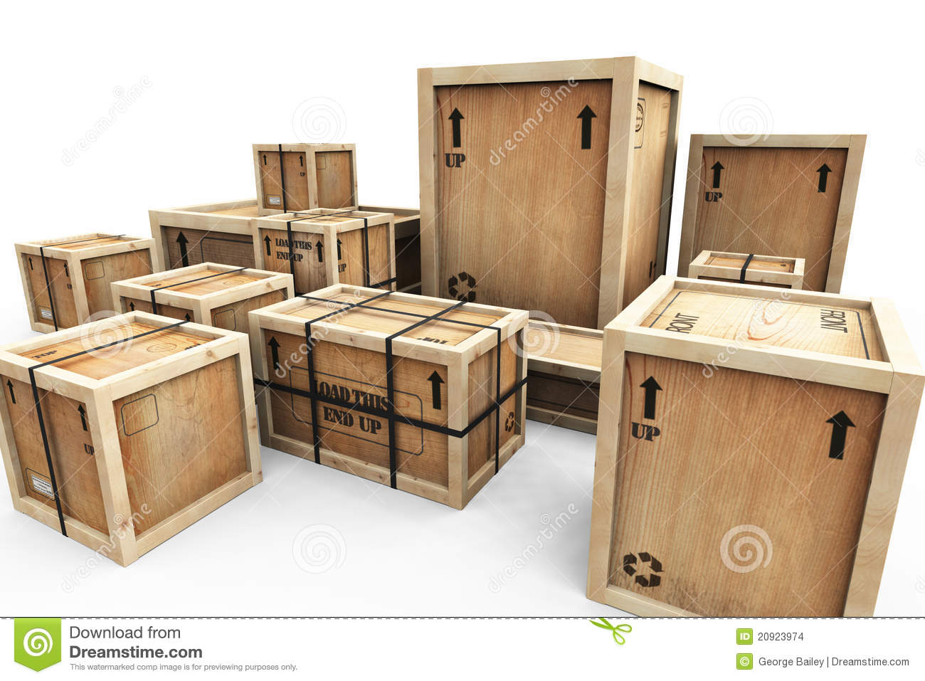 Group Of Shipping Crates Stock Images - Image: 20923974