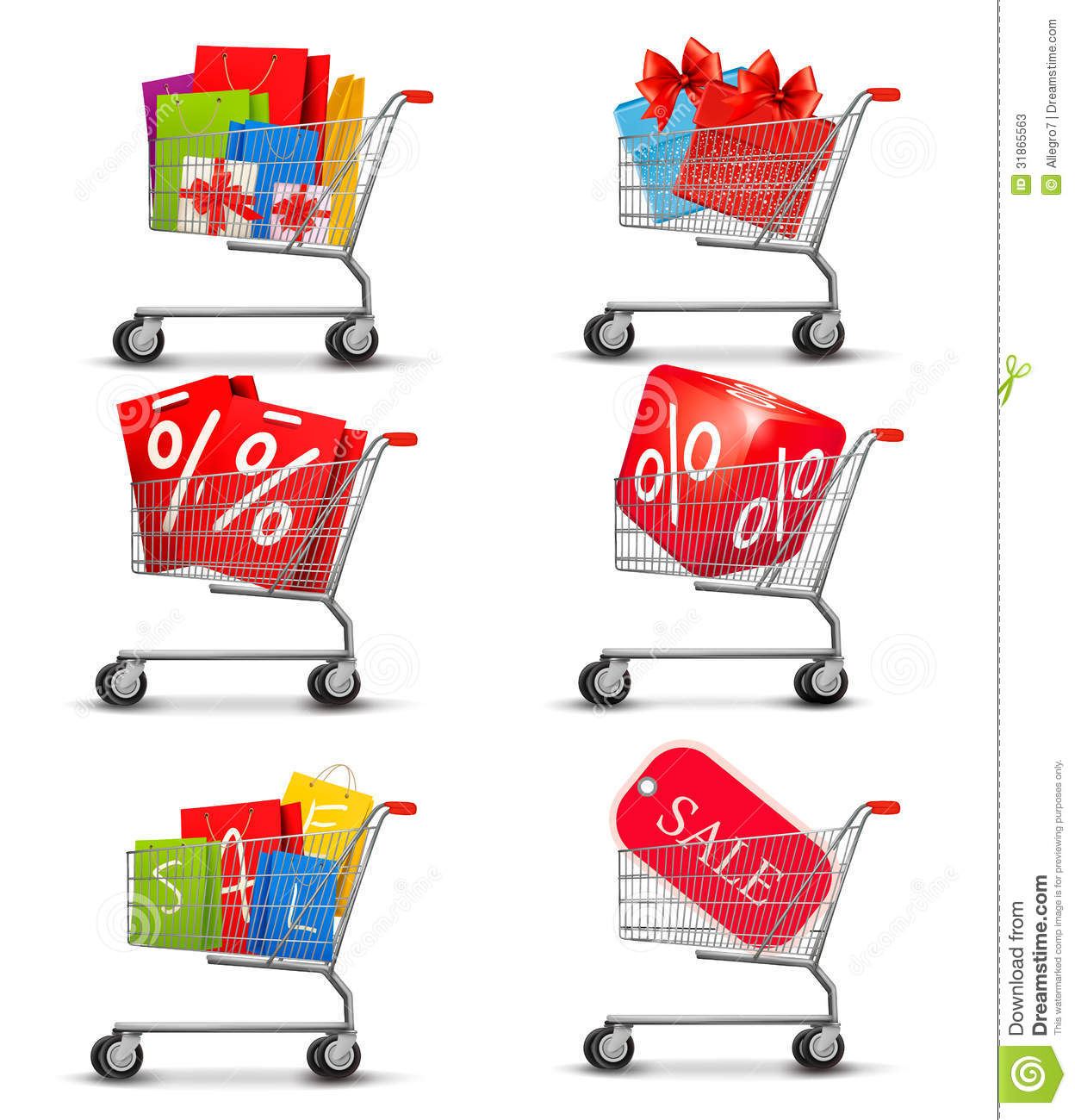 Group Of Shopping Carts Full Of Shopping Bags And Stock Photos ...