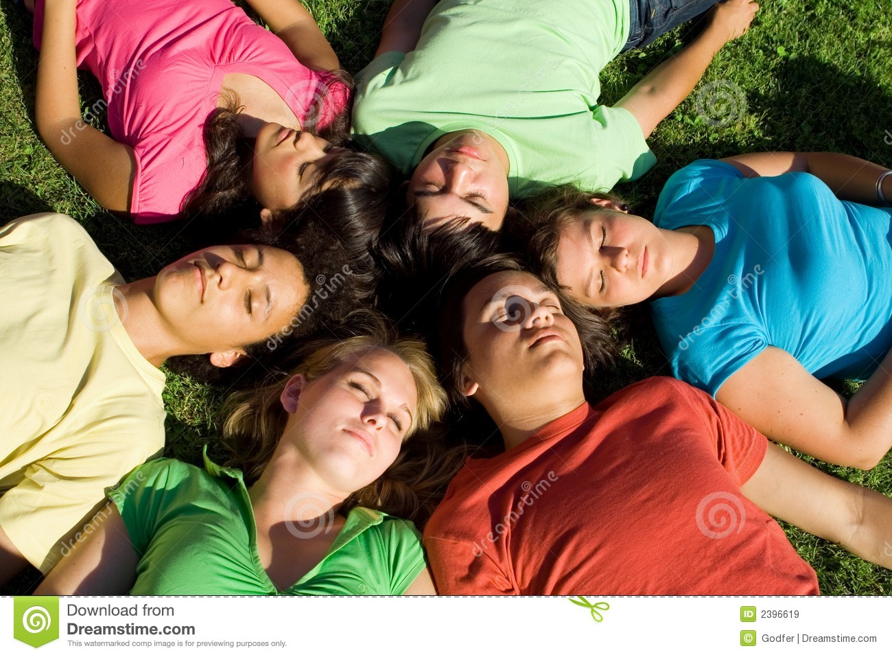 group sleeping teenagers stock image image of closed 2396619