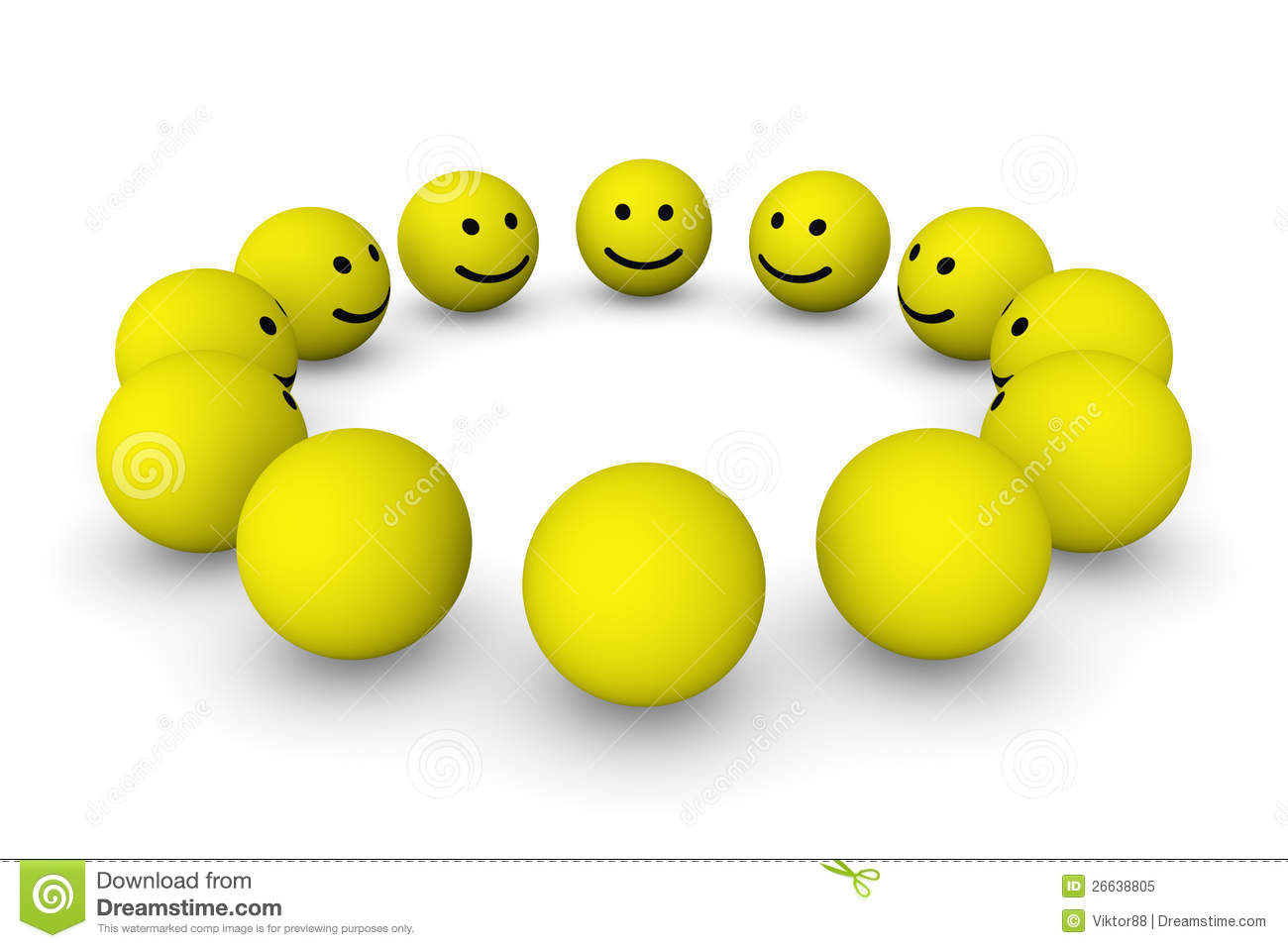 Group Of Smiley Balls Royalty Free Stock Photo Image