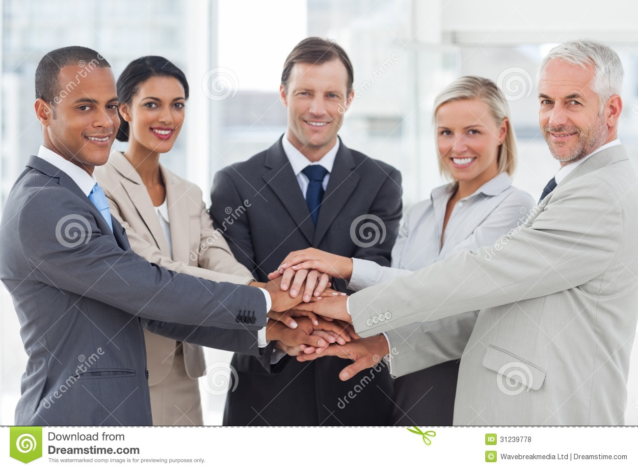 Business people handshake greeting deal at work photo free download - Business Hands People