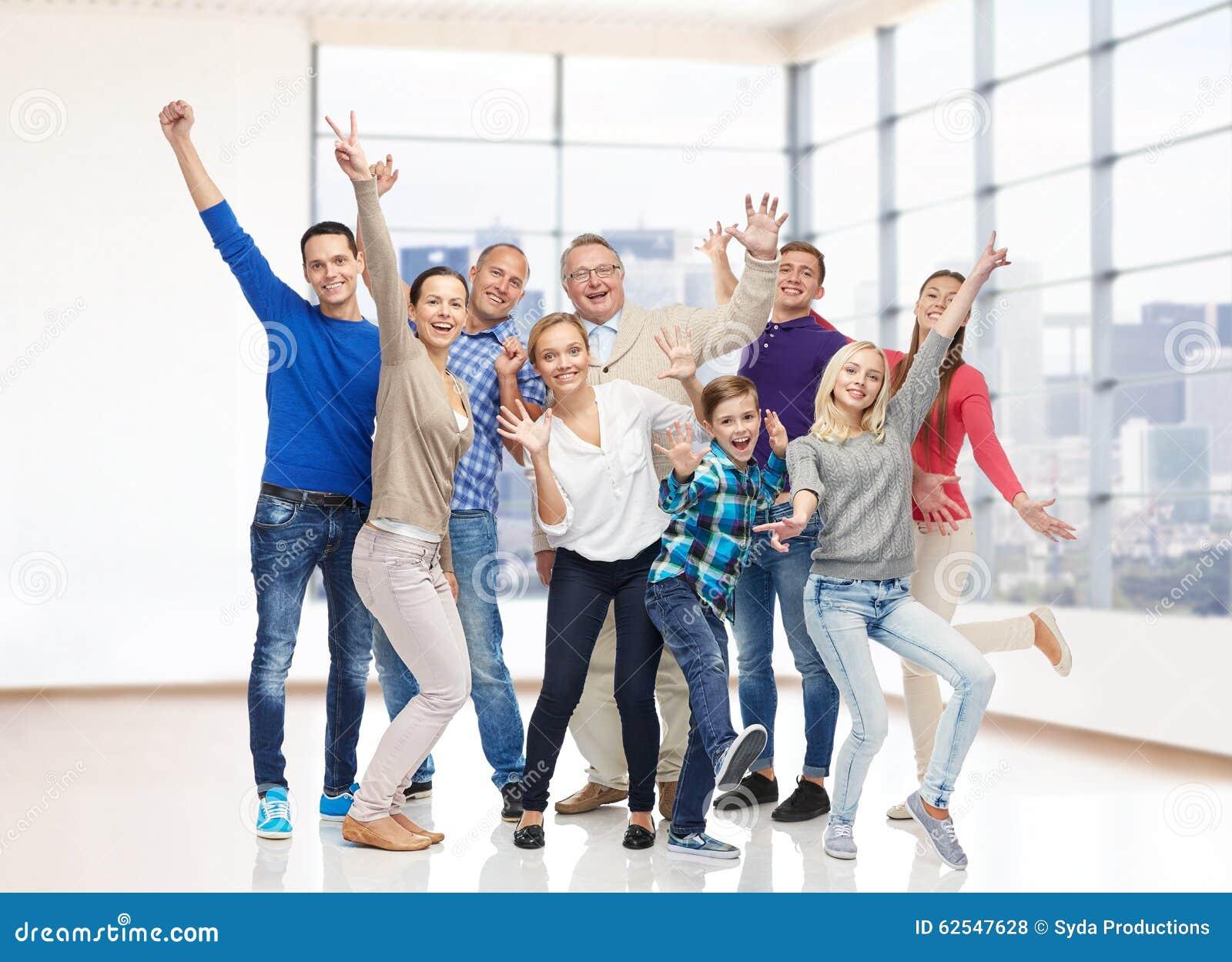 Group Of Smiling People Having Fun Stock Photo - Image ...