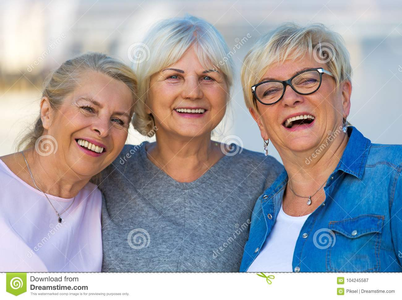 Download Group Of Senior Women Smiling Stock Image - Image of group, pensioners: 104245587