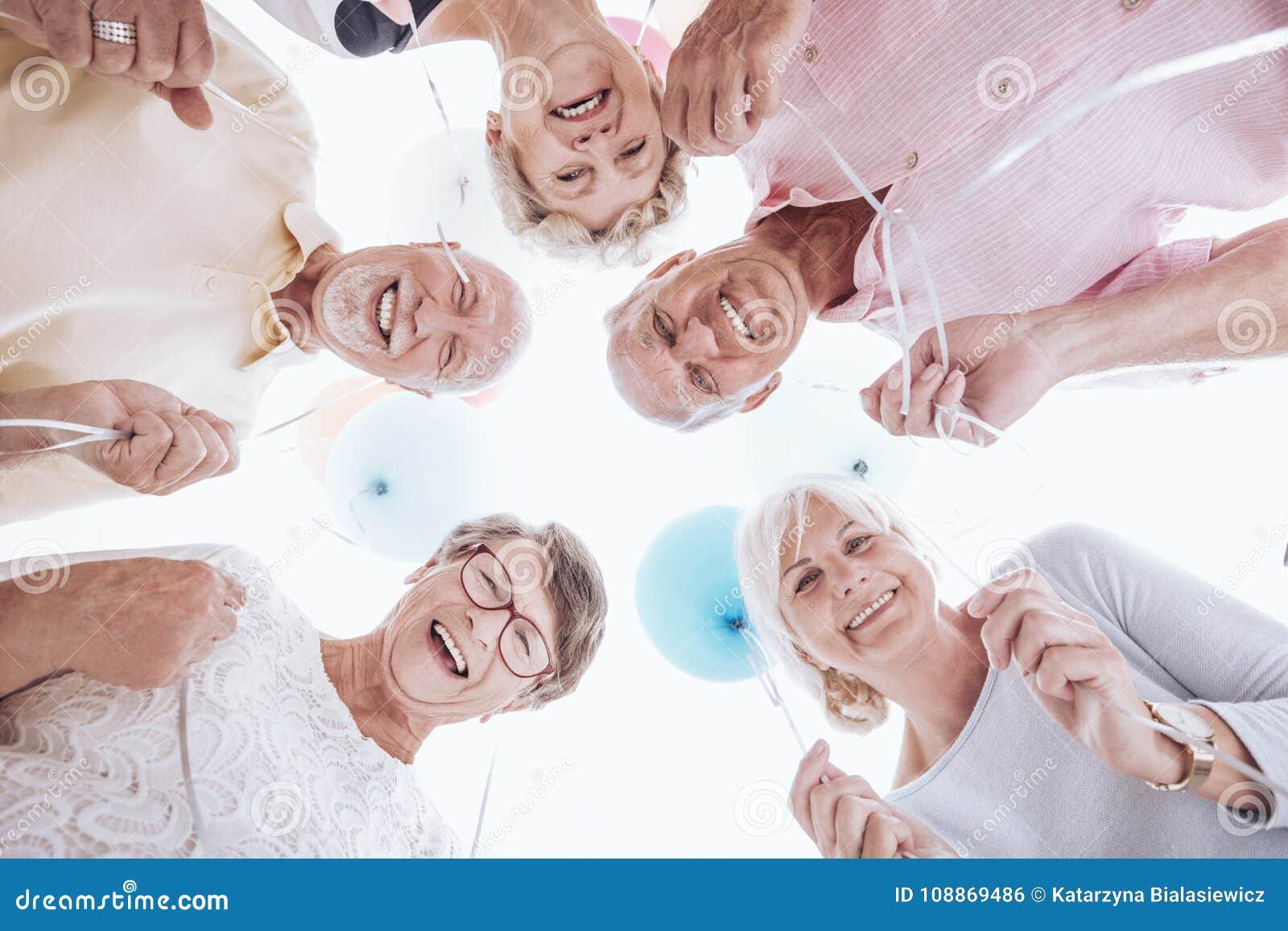 Seniors looking down