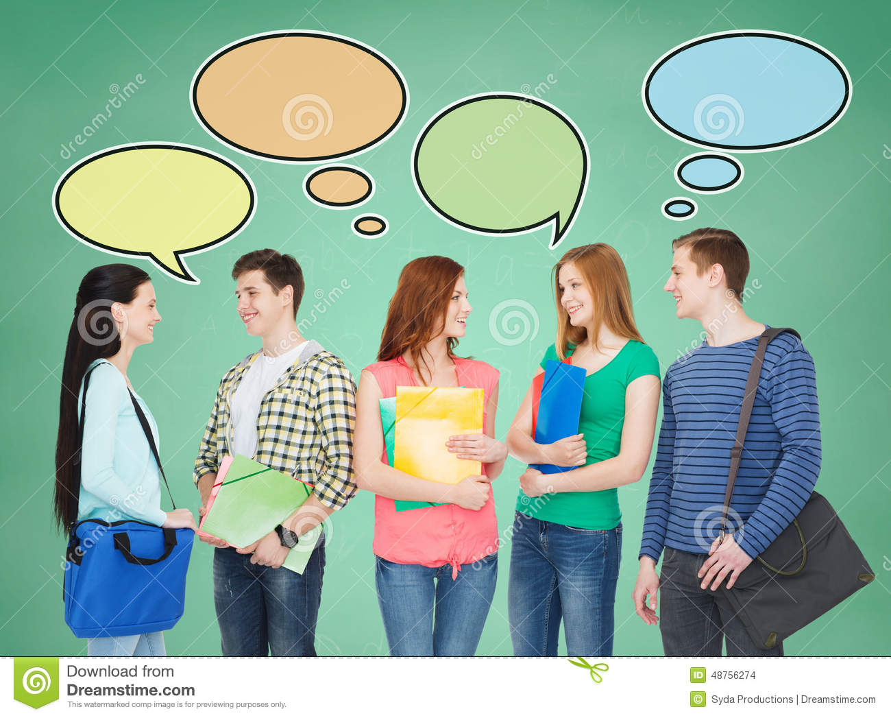 group of smiling teenagers stock illustration image walking clipart talking clip art images