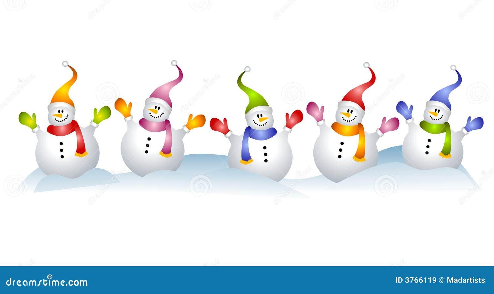 Group of Snowmen Snowman Clip Art