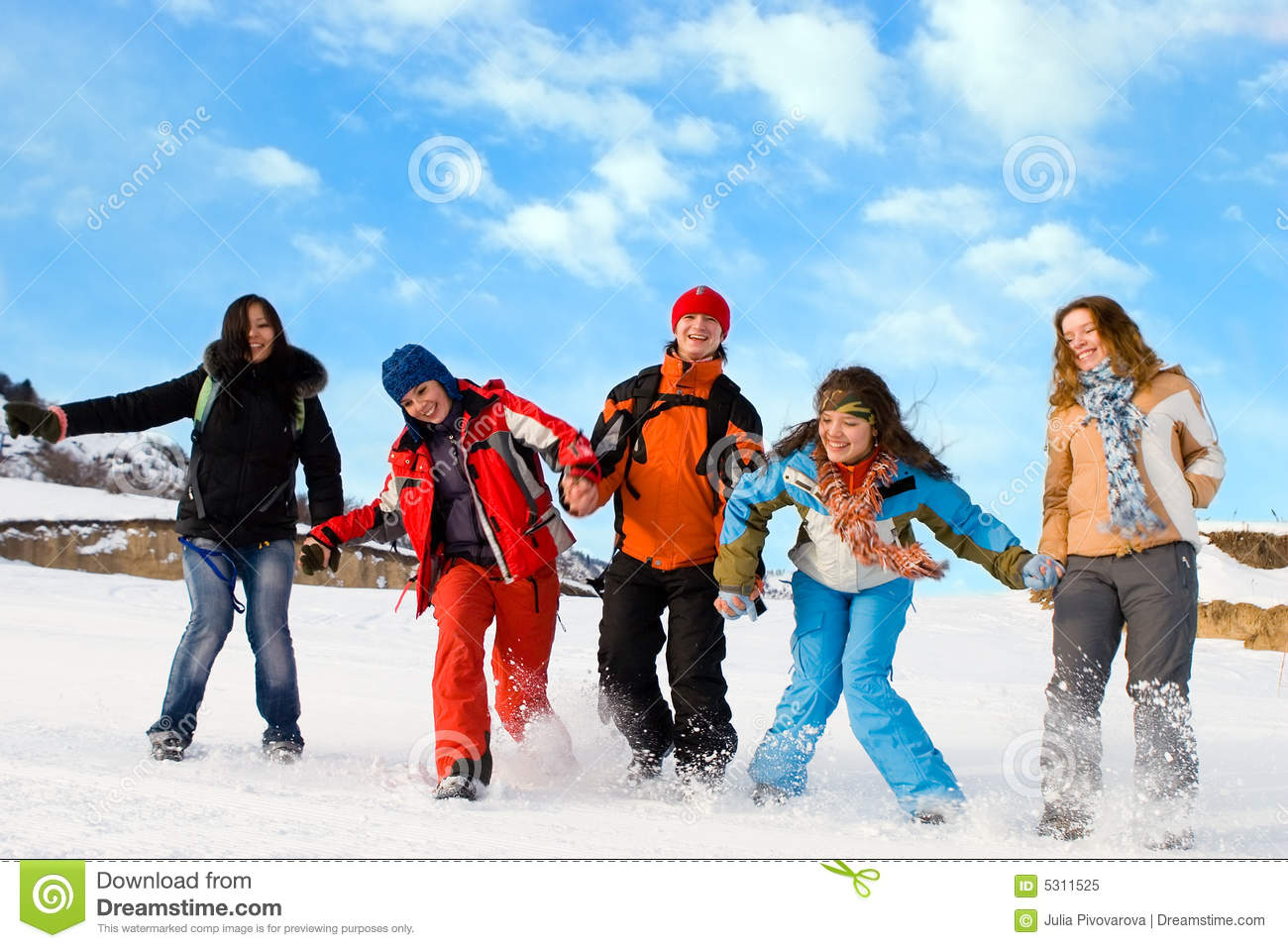 Group of sport teens different ethnicity