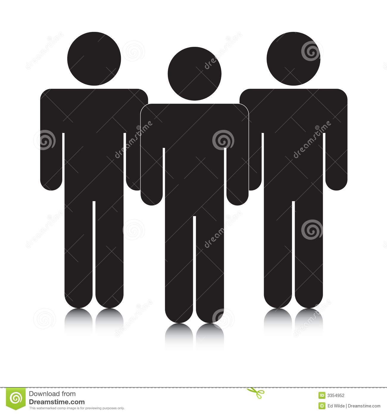 Group Of Stickmen Silhouettes Stock Photography - Image: 3354952