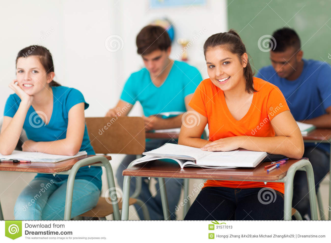 Group Students Classroom Stock Photos - Image: 31577013
