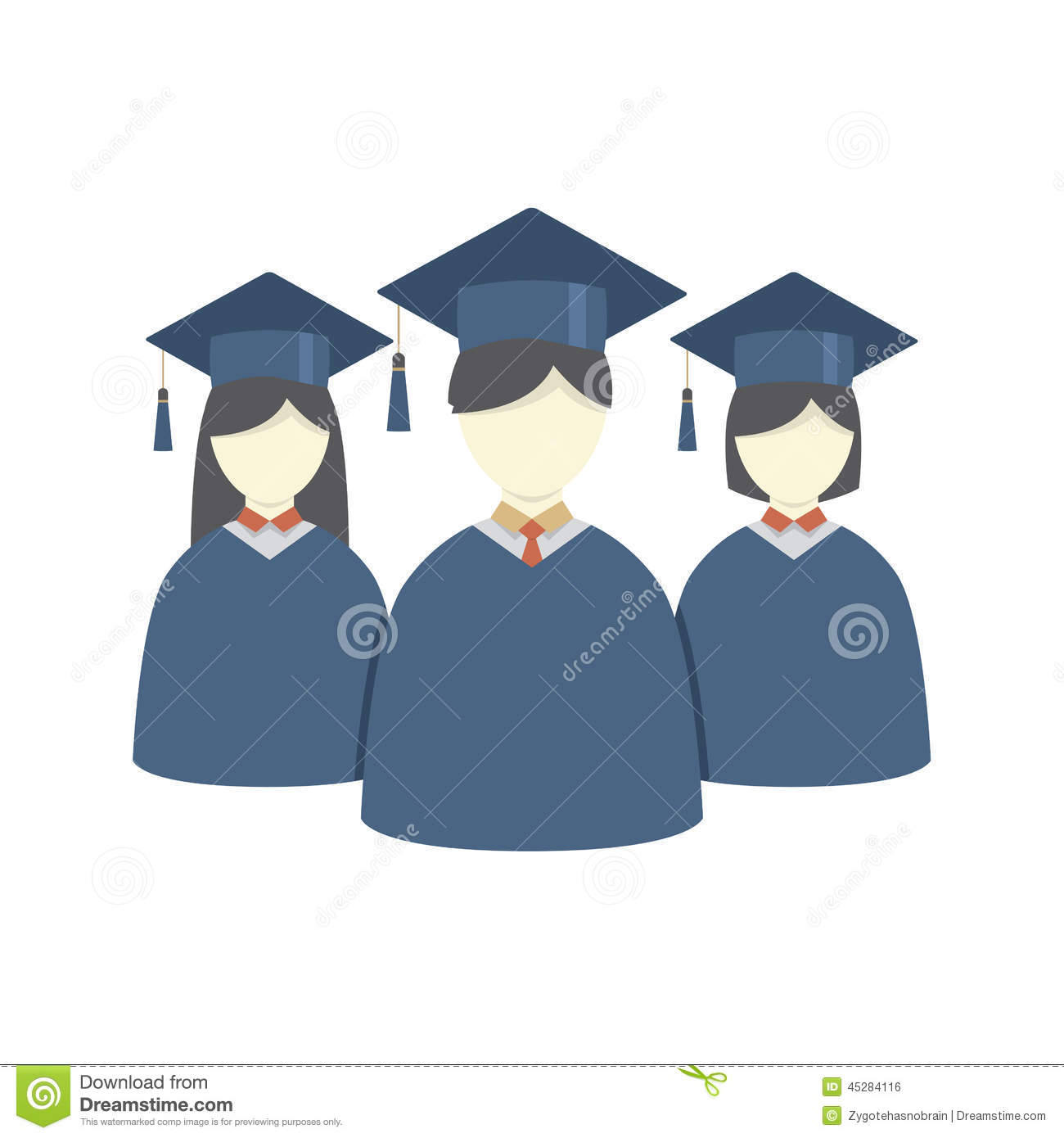 Student Group Graduation Gown Cartoon Vector | CartoonDealer.com ...