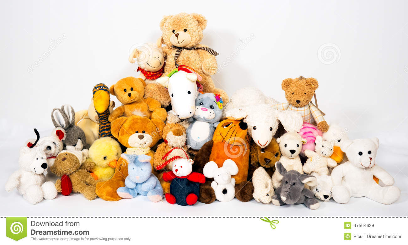Toys For Groups : Group of stuffed animals stock image bunny