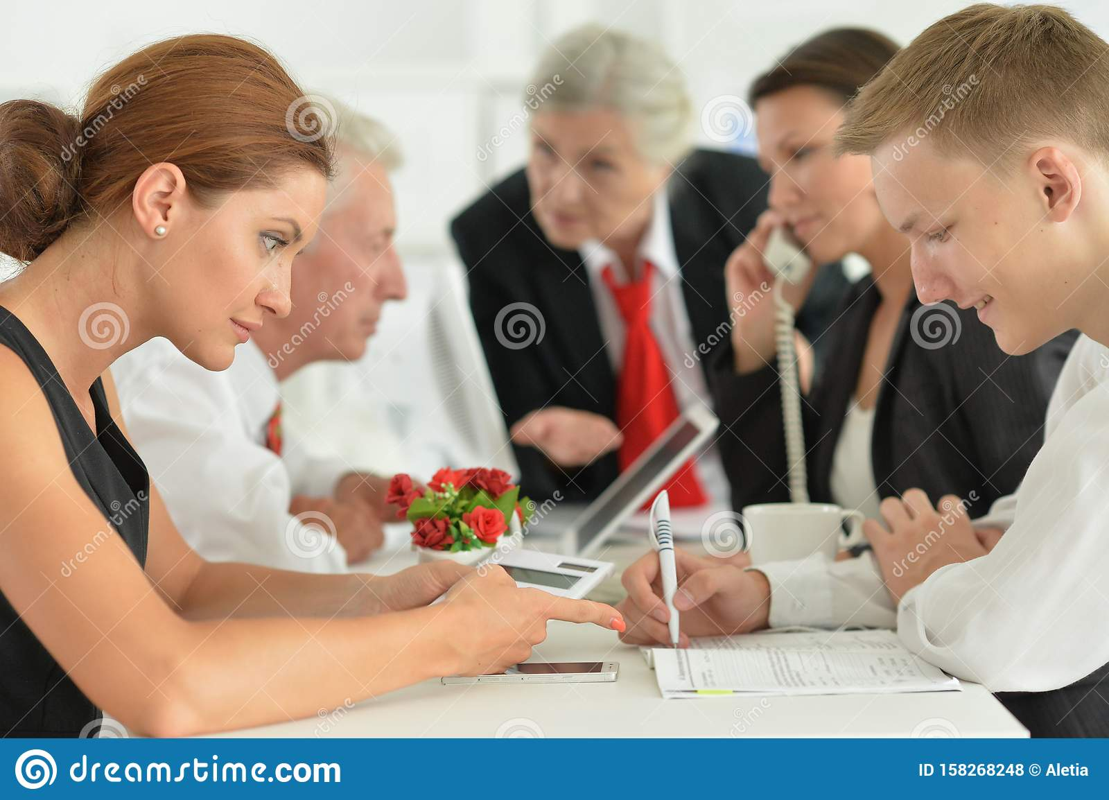 Portrait of group of successful business people