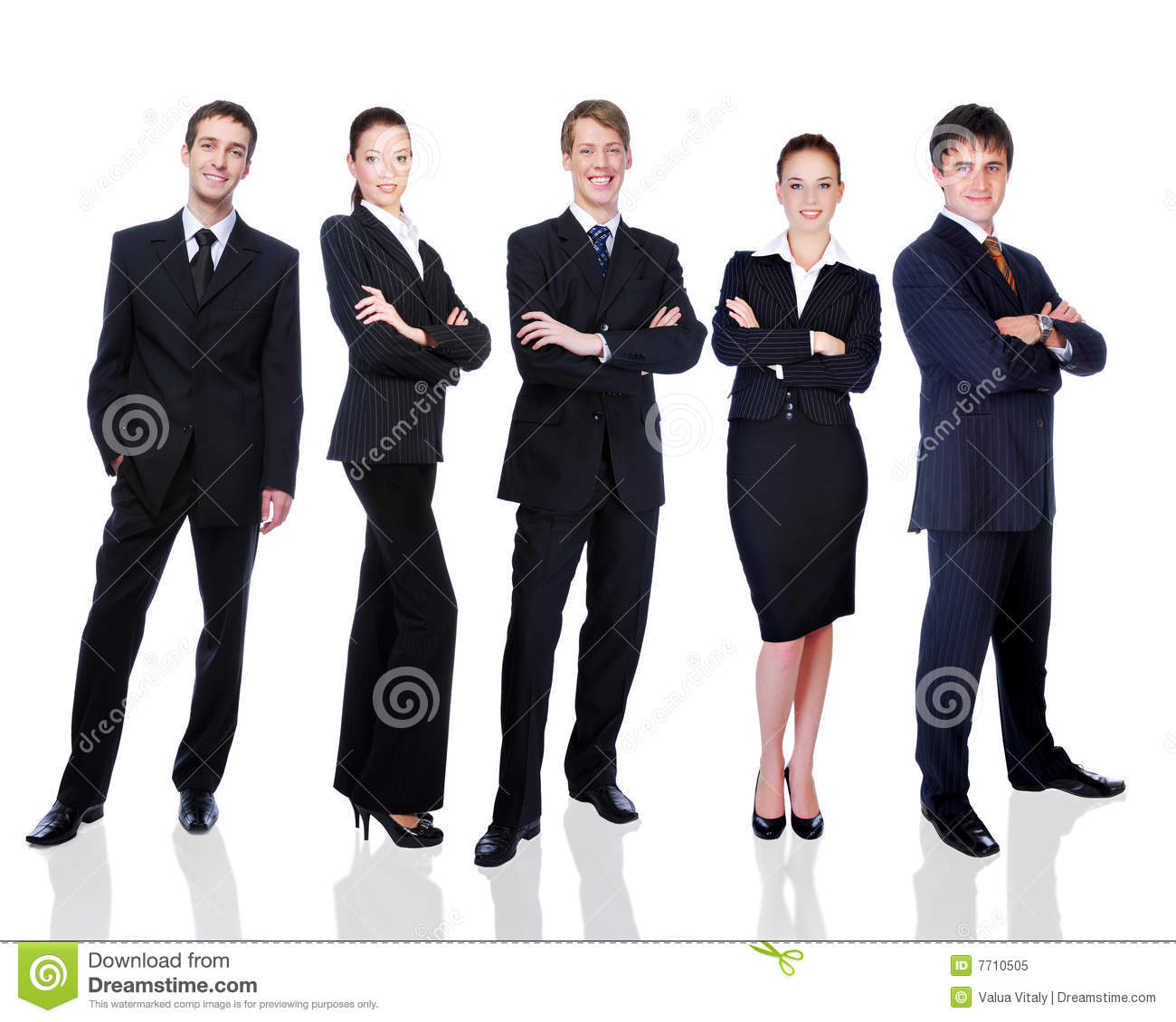 Group of successful smiling business people
