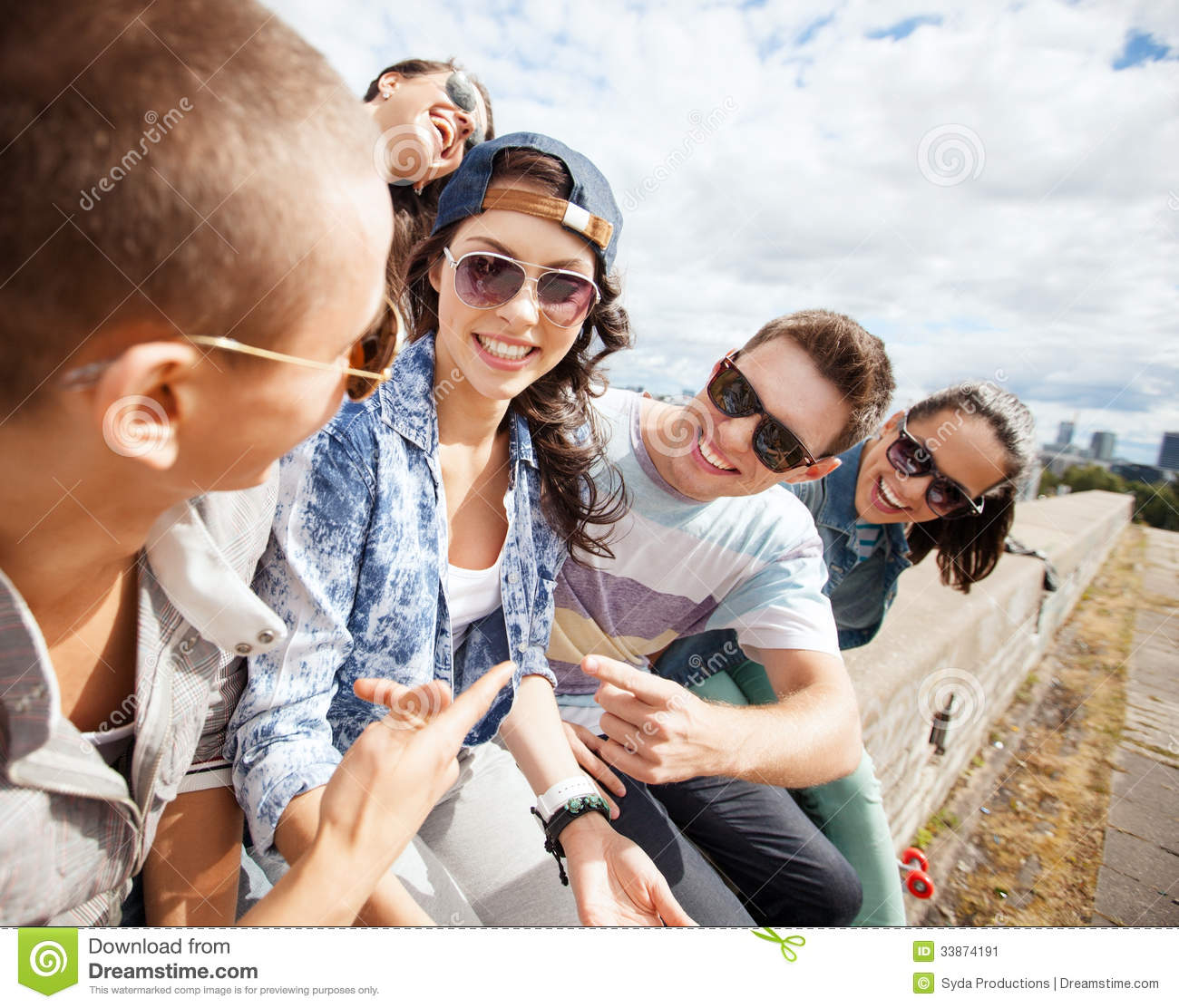 Group of teenagers hanging out stock image image 33874191 for Hanging groups of pictures