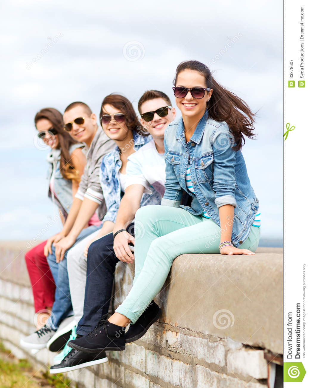 Group of teenagers hanging out stock image image 33878607 for Hanging groups of pictures