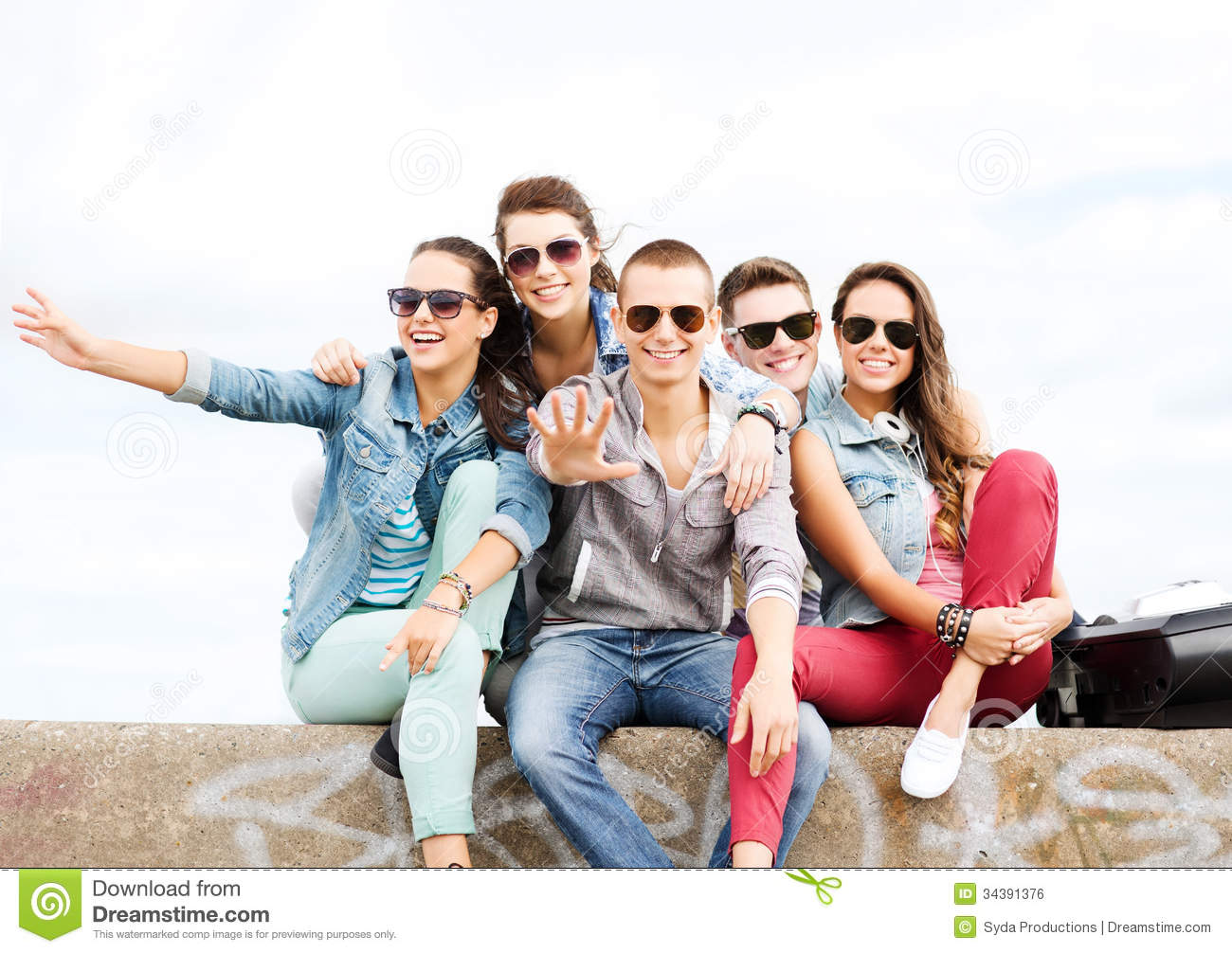 Group of teenagers hanging out royalty free stock image for Hanging groups of pictures