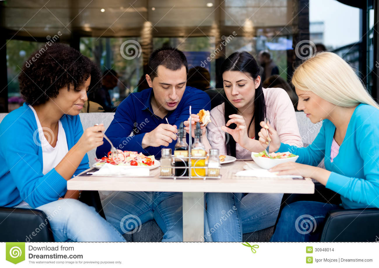 Group of teenagers students on lunch stock images image for Group lunch