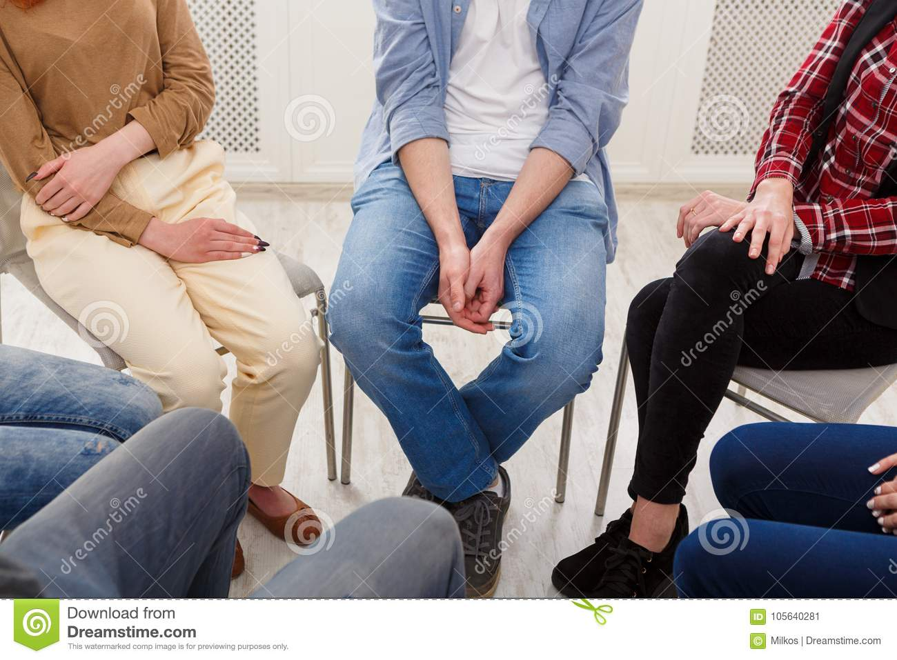 Group therapy, psychology support meeting
