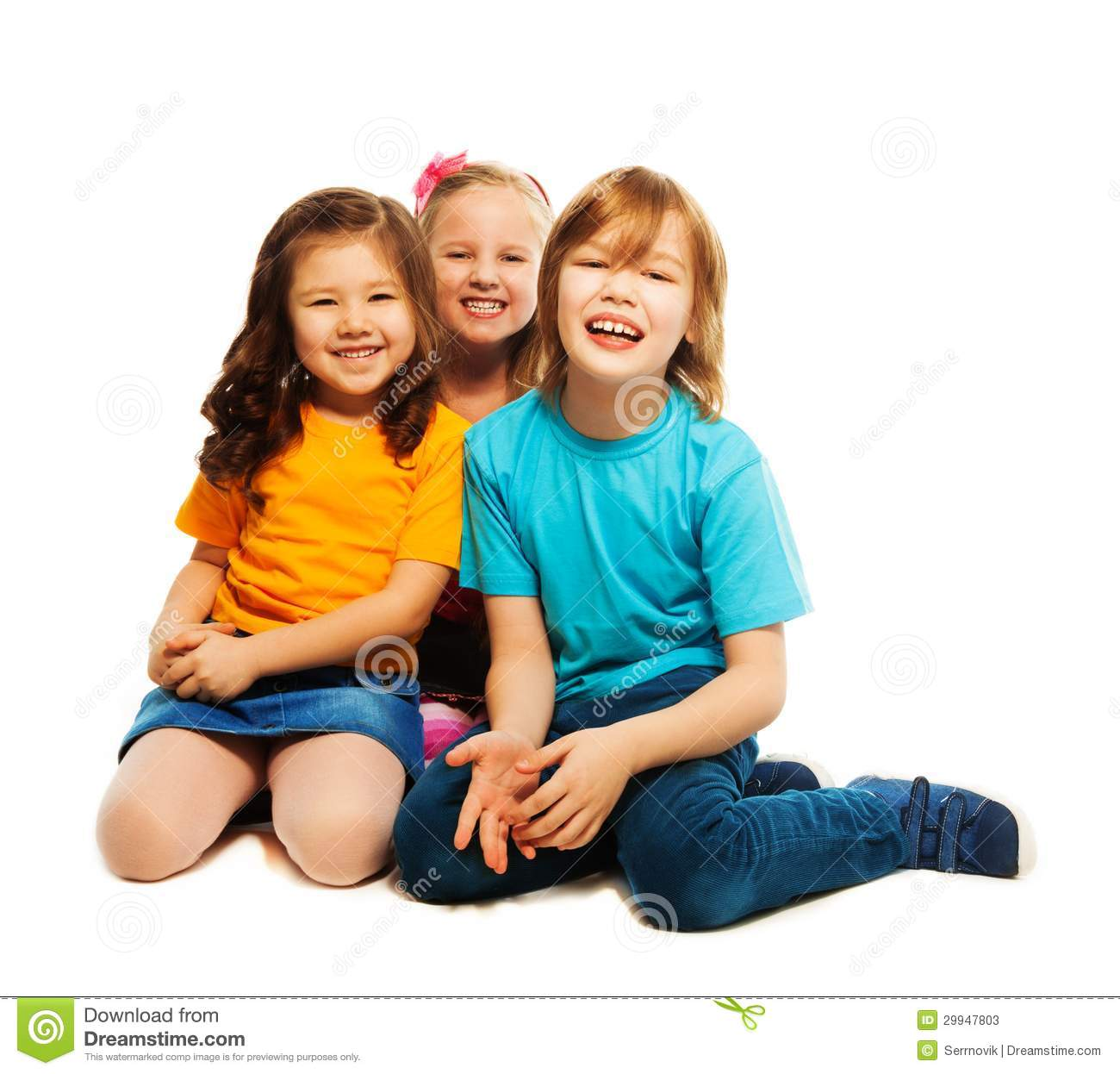 Three Best Friends Stock Image. Image Of Lifestyle, Kids