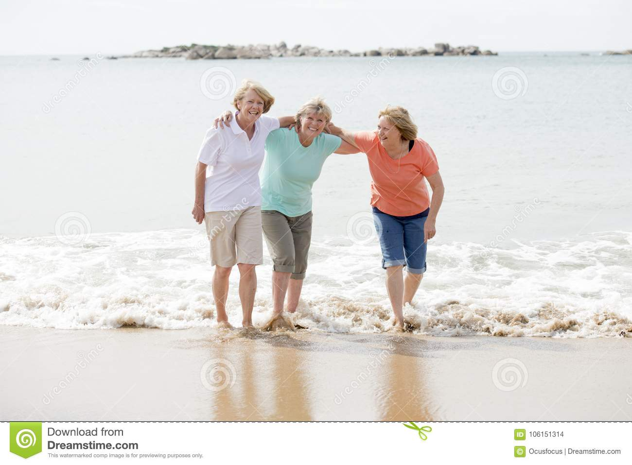 Beach mature fun