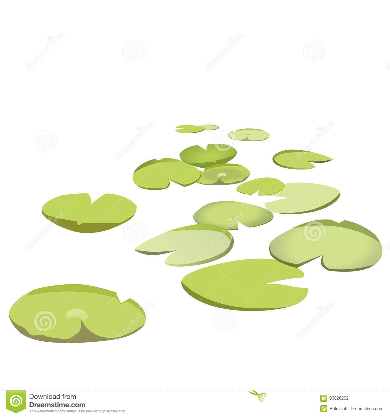 Plant top view vector in group download free vector art stock - Royalty Free Vector