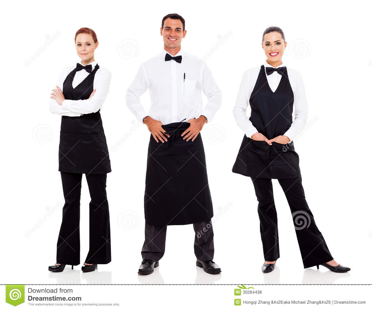 Waiter And Waitress Royalty Free Stock Photos - Image: 30284438