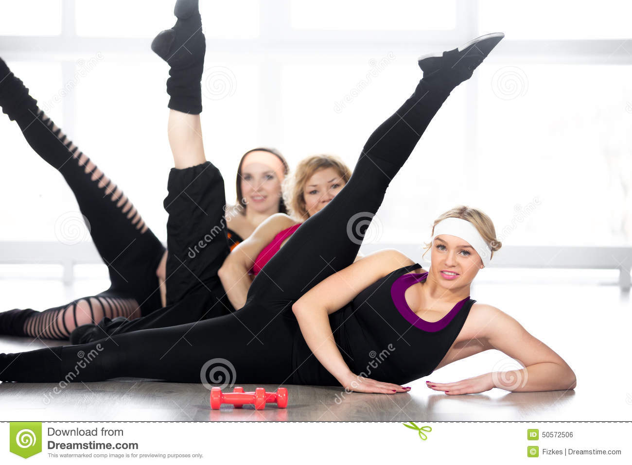 The excellent Nude women doing pilates