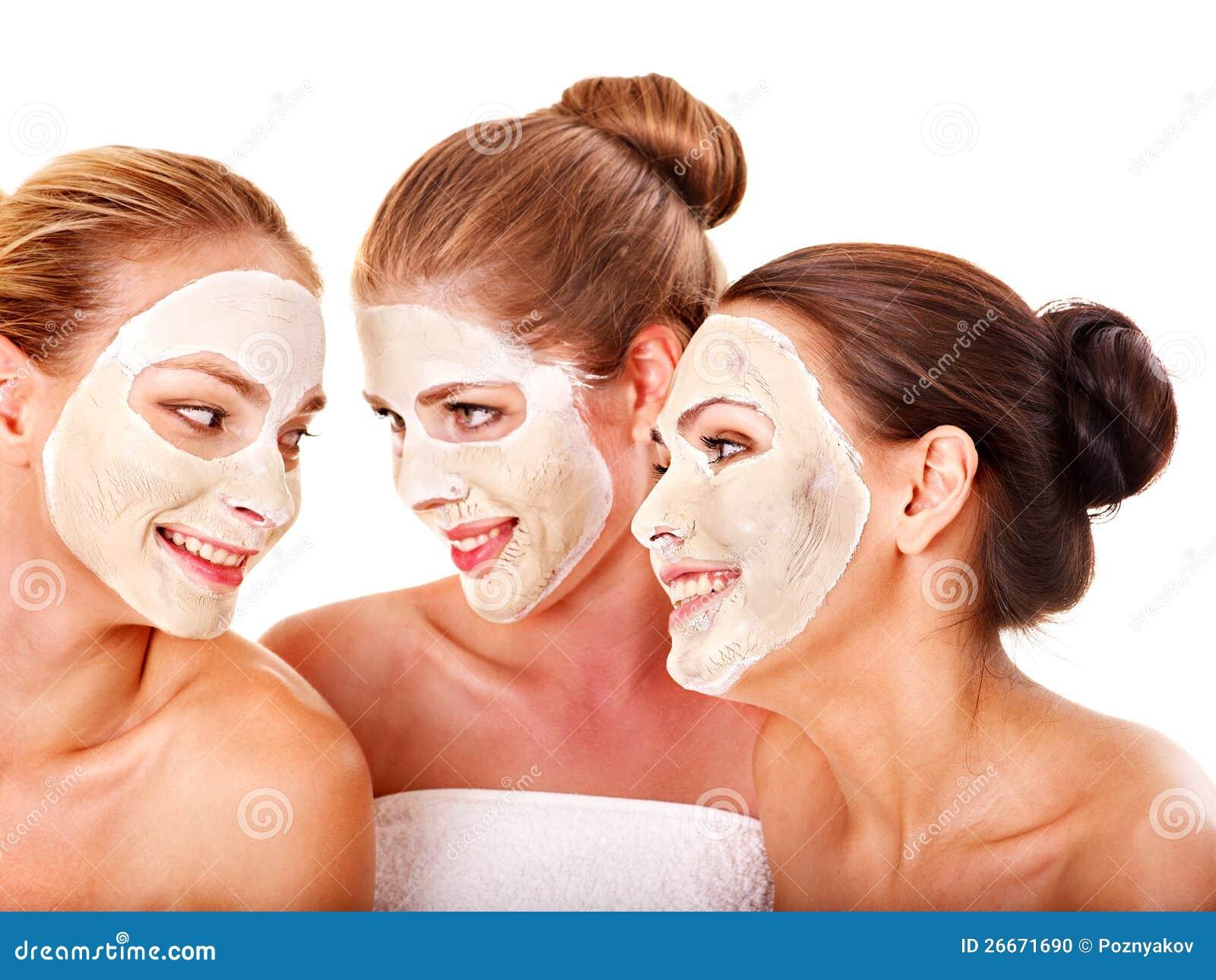 Group Women Facial Mask