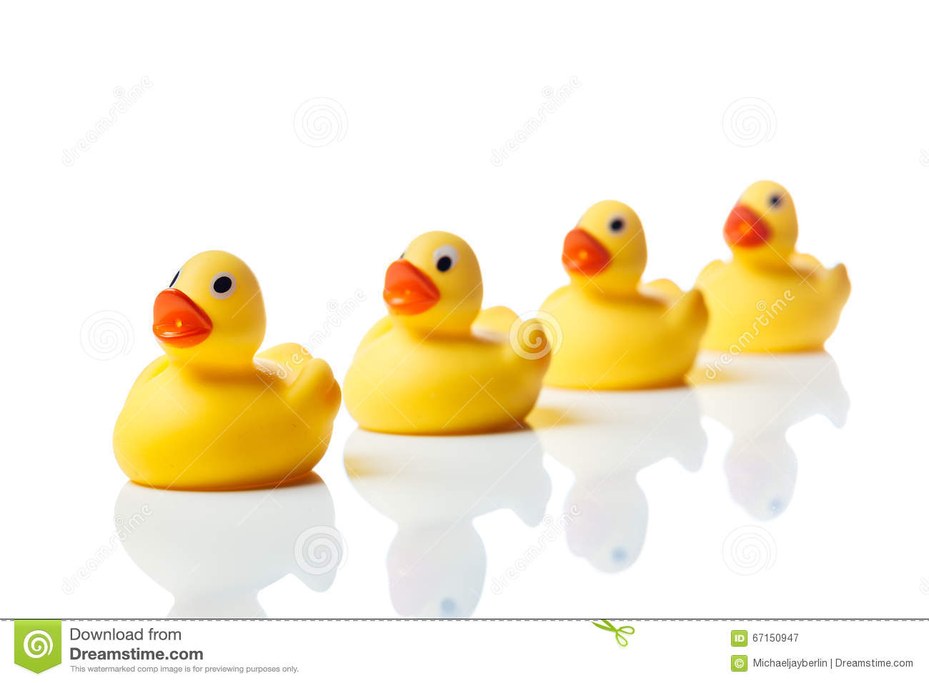 Toys For Groups : Group of yellow rubber duck toys stock photo image