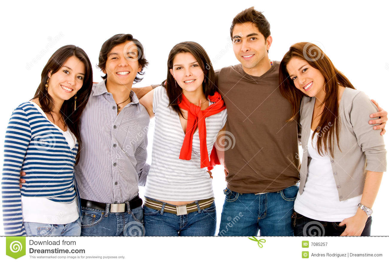 Group of young adults stock image. Image of smile, adults ...