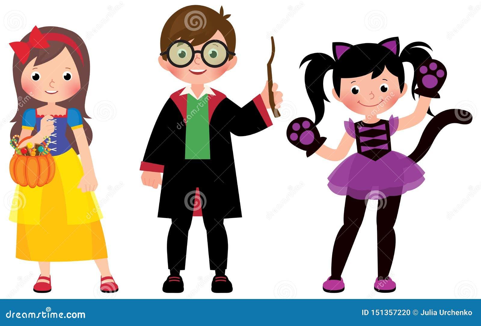 Halloween Costumes Stock Illustrations – 2,727 Halloween ...