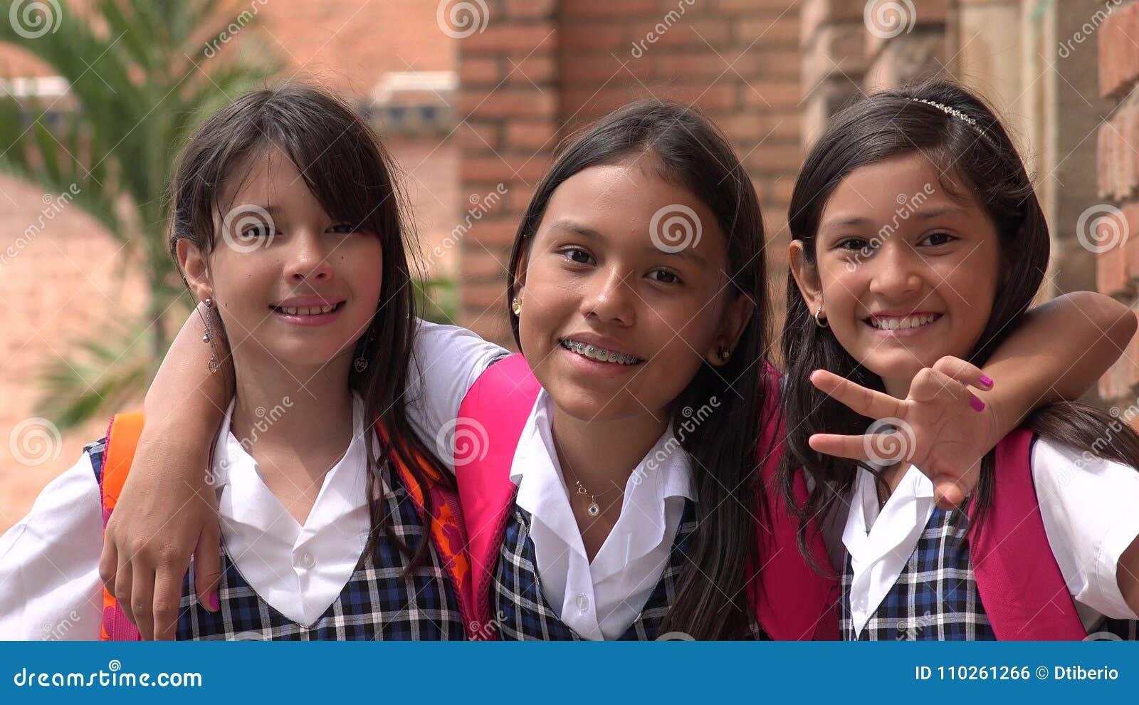 White Girl School Uniform