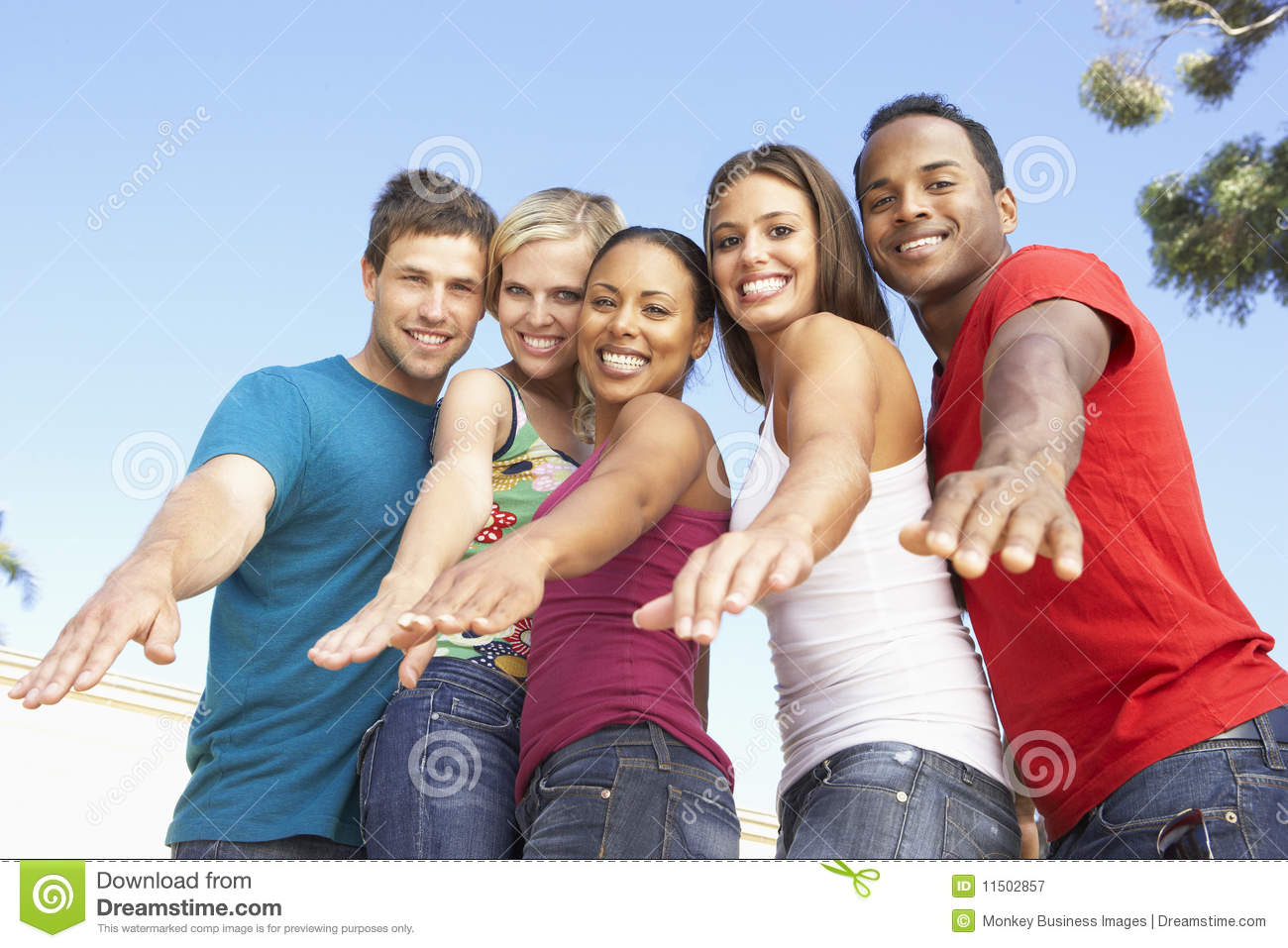 Group Of Young Friends Having Fun Together Royalty Free ...