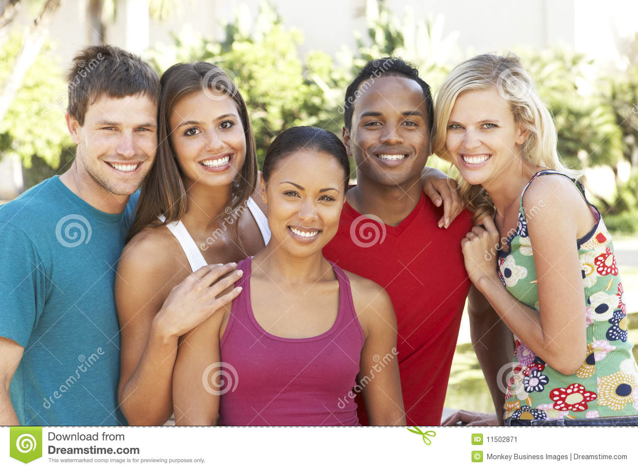 Group Of Young Friends Having Fun Together Stock Image ...
